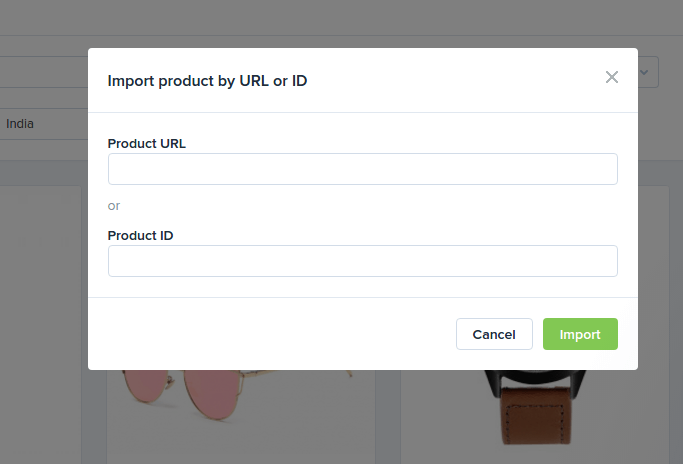 add your product url