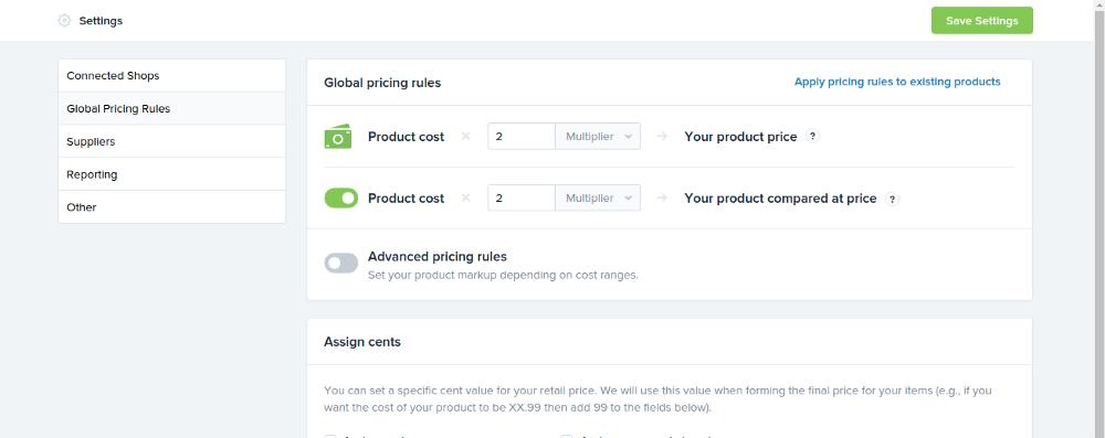 global pricing rule