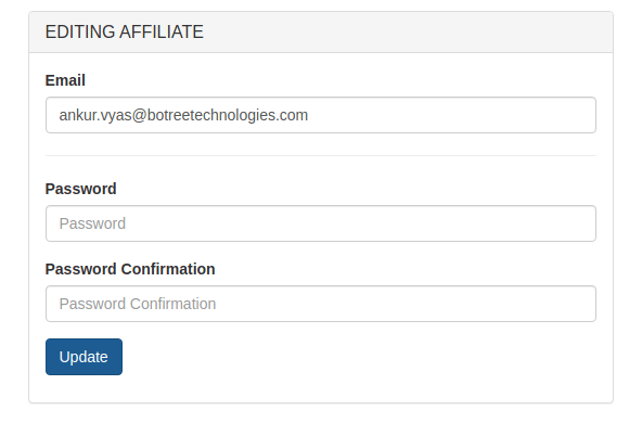 affiliate users creation