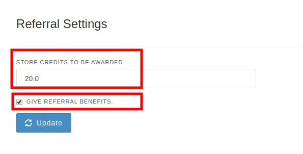 Referral settings