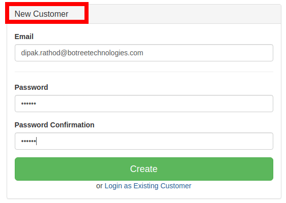 Register the user to the application