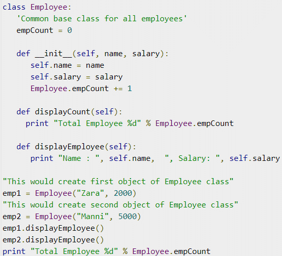 Instance - individual object of a certain class