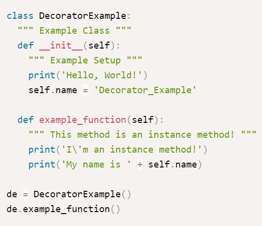 Methods example