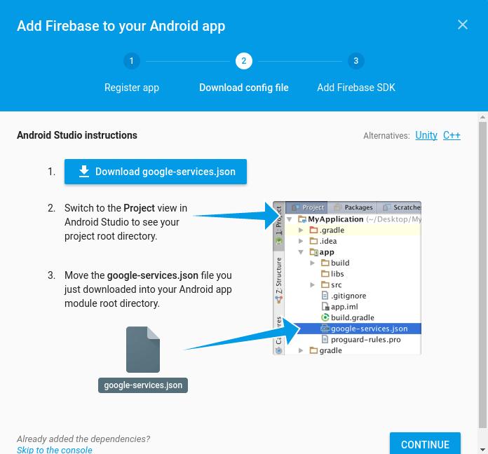 firebase app dashborad