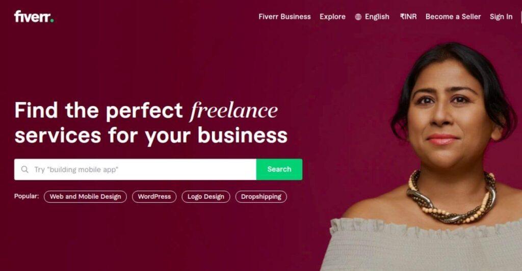 Fiverr - freelance services platform