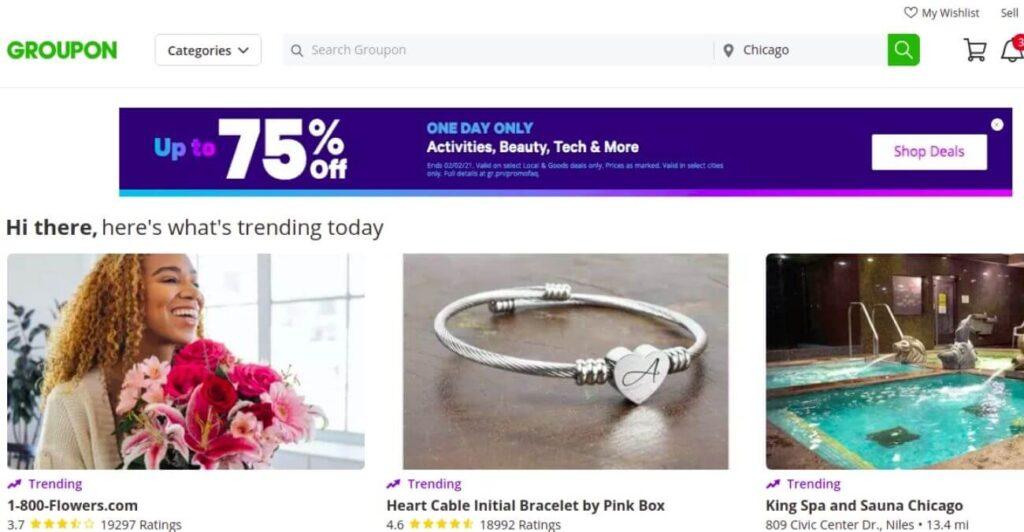 Groupons - eCommerce marketplace