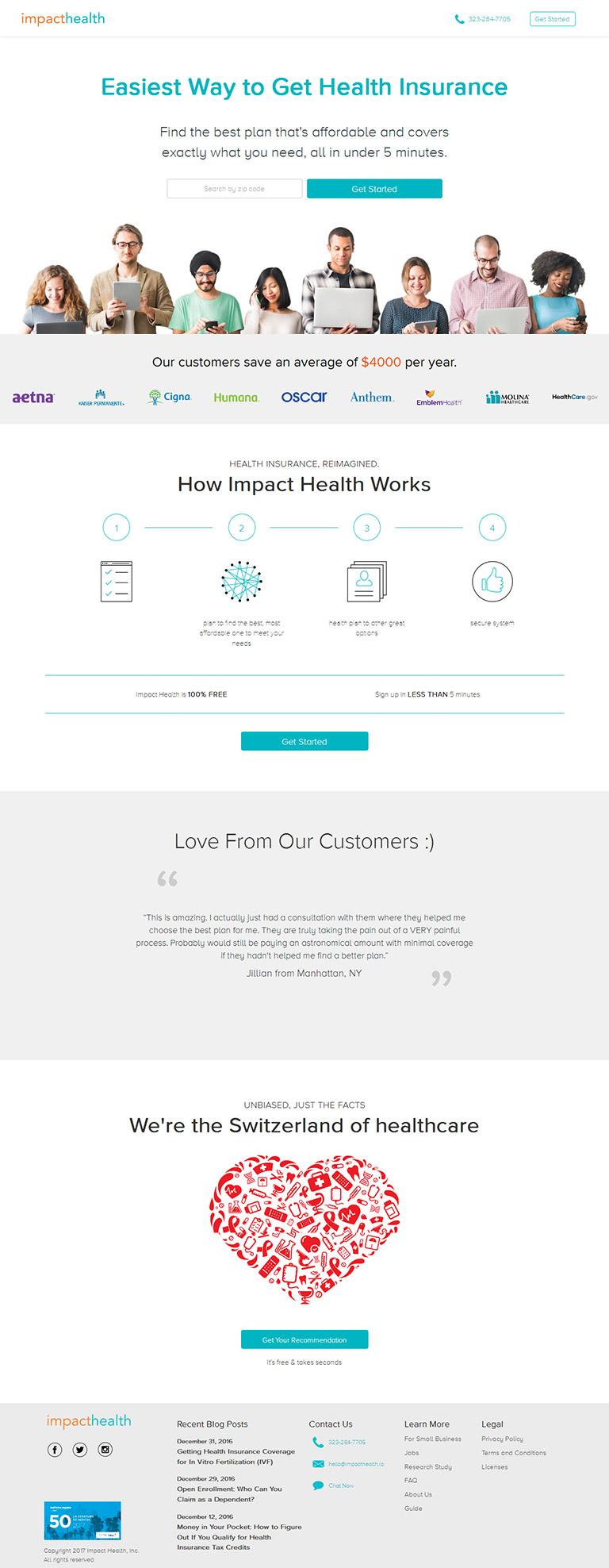 Online Health Insurance App