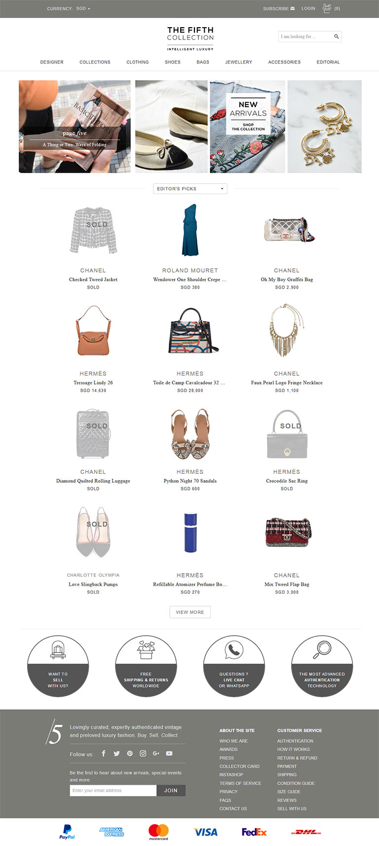 Online Luxury Vintage Fashion App